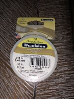 "Beadalon Gold Color .018"" Bead Stringing Wire 19 Strand Flex Wire - 30ft"