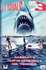 LO SQUALO 3 (1975) VHS CIC Video  Joe Alves Lea Thompson, Dennis Quaid RARA
