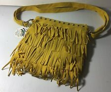 Funky Fringe Fashion Purse With Silver Tone Stud Metal Accent