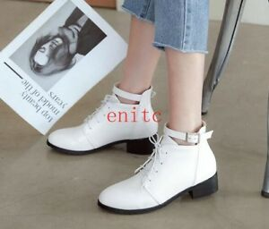 Womens Large Size Sexy Low Heel Ankle Boot Casual Shoes Euro Booties Shoes W74