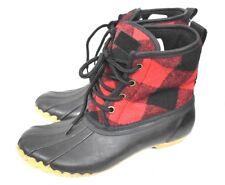 Chooka Women's Eastlake Buffalo Duck Boot Red Plaid Rain Boots size 7