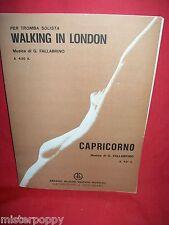 G. FALLABRINO Walking in London + Capricorno 1981 Spartiti Tromba Solista