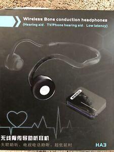 Bone Conduction Hearing Aid for Seniors-Bluetooth Open Ear TV Headphones Wireles