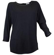 Lockre Sitzende 3/4 Arme Damenblusen,-Tops & -Shirts mit Rundhals für Business
