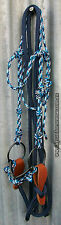 COMPLETE ROPE BRIDLE and REINS,BIT,CHIN STRAP - Professionally Made -