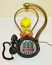 Vintage Tweety Bird Sylvester Looney Tunes Phone Radio Alarm Clock Working!