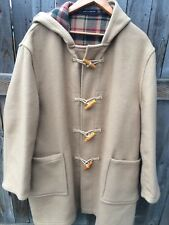 Orvis Wool Blend Toggle Coat Duffle Jacket Men's 46 Camel Tan Made in England
