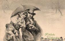 Weihnachten, Eltern mit Kind, Verlag Munk Wien, 1906 nach Waldfischbach