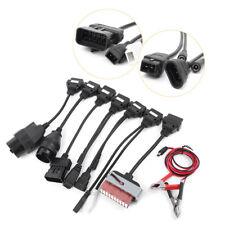 8pcs Black Car Cables OBD2 OBDII Connector For Delphi CDP Diagnostic ds150e O