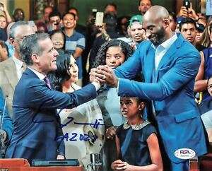 Eric Garcetti signed 8x10 Photo PSA/DNA Autographed Kobe Bryant