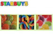 Canvas Prints Wall Art Photo Print Canvas Wall Clock Art Deco Colourful Sweets