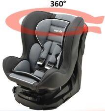 Siège Auto Pivotant 360° Groupe 0/1/ (0-18kg)- inclinable et confortable