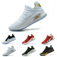 2019 Playoff Curry 4 Stephen Rock Mens Basketball Trainers Shoes White Sneakers
