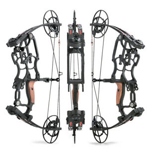 50-75lbs Compound Bow Short Axis Hunting Fishing Arrows Archery Right Left Hand