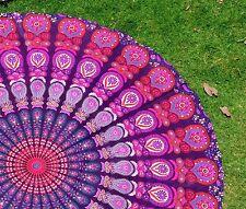 Bohemian Beach Mandala Round Tapestry Hippie Throw Yoga Mat Towel Indian Round 0
