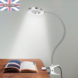 Flexible Table Clip-on LED Tattoo Lamp Salon Eyelash Nail Makeup Light Reading