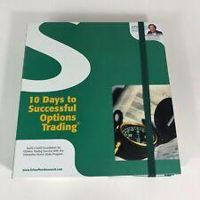 10 Days to Successful Options Trading CD & DVD Bernie Schaeffer Full Binder