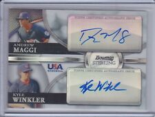 ANDREW MAGGI/KYLE WINKLER 2010 Bowman Sterling USA Autograph Refractor (C1988)