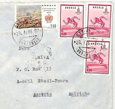CA301 1986 Angola OLYMPICS ISSUE FRANKING Airmail Cover MISSIONARY VEHICLES PTS