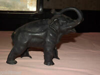 VINTAGE  OLD CAST IRON ELEPHANT COIN BANK