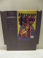NINTENDO NES METROID 3 SCREW YELLOW GAME CARTRIDGE CLEANED & TESTED