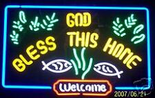 God Bless This Home Welcome Neon Sign