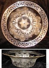 PAIRPOINT BUTTERFLY & DAISY BIG STERLING RIM BOWL NICE