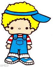 "5"" HELLO KITTY SANRIO  BOY  CHARACTER FABRIC APPLIQUE IRON ON"