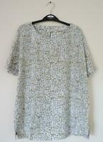 NEW EX WHITE STUFF UK SIZE 10 CREAM TURQUOISE FLORAL PRINT BLOUSE TOP