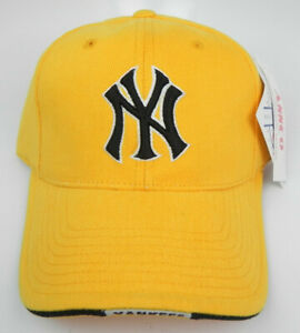 NEW YORK YANKEES MLB YELLOW VINTAGE AMERICAN NEEDLE STRAPBACK RETRO CAP HAT NWT!