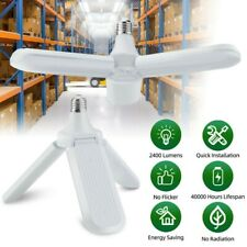E27 Garage Led Light Deformable Foldable Bulb Ceiling Fixture Shop Workshop Lamp