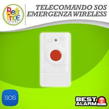 TELECOMANDO SOS EMERGENZA CLICKLIFE WIRELESS ANTIFURTO ALLARME  A-B-N-X
