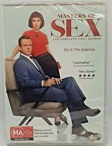 Masters of Sex Season 1 4 discs DVD Region 4 NEW SEALED Free Post