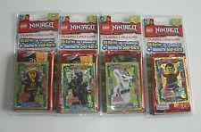 LEGO Ninjago Serie 2 Trading Card Game - alle 4 Blister mit limitierten Karten