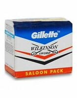 Gillette Wilkinson Sword Stainless Double Safety Razor Blades Saloon Shave-241