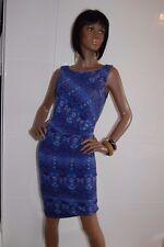 BNWT CATHERINE MALANDRINO Azul Jersey Acanalada Vestido Talla XS UK 8 £ 149
