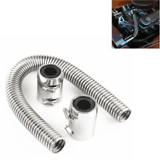 "24"" Chrome Stainless Radiator Hose w/ Polished Caps Universal Racing Power NEW"