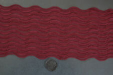 STRETCH LACE - MAROON-  WAVE PATTERN  14cm wide - selling per metre