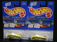 2 NEW HOT WHEELS HOT ROD MAGAZINE TRACK T 006 YELLOW FLAMES RAZOR SAW BLADE 2/4