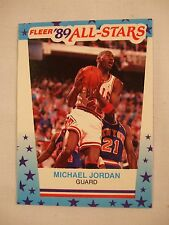 "1989-90 MICHAEL JORDAN - Fleer ""All Star"" Sticker #3 Bulls HOF"