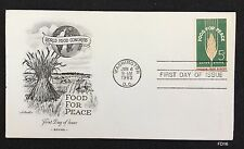 FD16 Cachet 1ST DAY ISSUE Scott#1231 WORLD FOOD CONGRESS FOOD FOR PEACE 1963 FDC