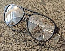 Stylish Vintage Black Frame Aviator Safety Glasses Aearo Safety Eurolite