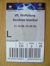 UEFA Europa League TICKET- VFL WOLFSBURG v BESIKTAS ISTANBUL, 21 October 2009