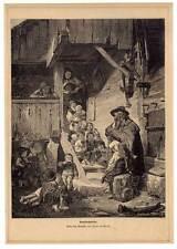 DUDELSACK-BAGPIPE-Dudelsackpfeifer-Musik-Music-Kinder Holzstich1870