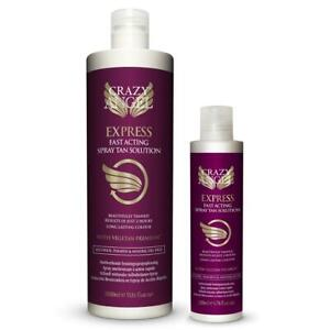 Crazy Angel Express Fast Tan Spray Tan Solution Sizes 200ml or 1 Litre