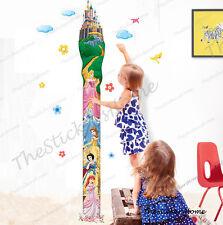 Disney Princess Height Chart Wall Stickers Kids Growth Girls Bedroom Decor Decal