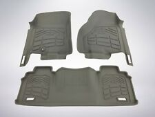 First & Second Row Floor Mats in Gray for 2006-2008 Dodge Ram 2500/3500 Mega Cab