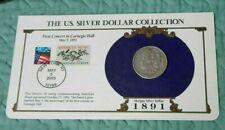 1891 Morgan Silver Dollar -U.S. Postal Commemorative Stamp Set