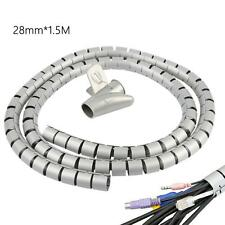 28mm Cable Cord Wire Organizer Line Holder Coiled Tube Sleeve Management Wrap
