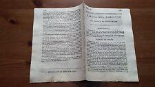 Núm 13 Gazeta del Gobierno del Jueves 31 de Agosto 1809 Gerona Tarragona Sevilla